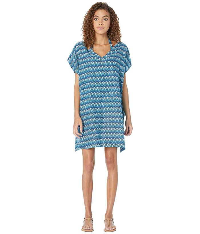 Vilebrequin Fafa Herringbones Turtles Cover-Up Dress (Blue) Women