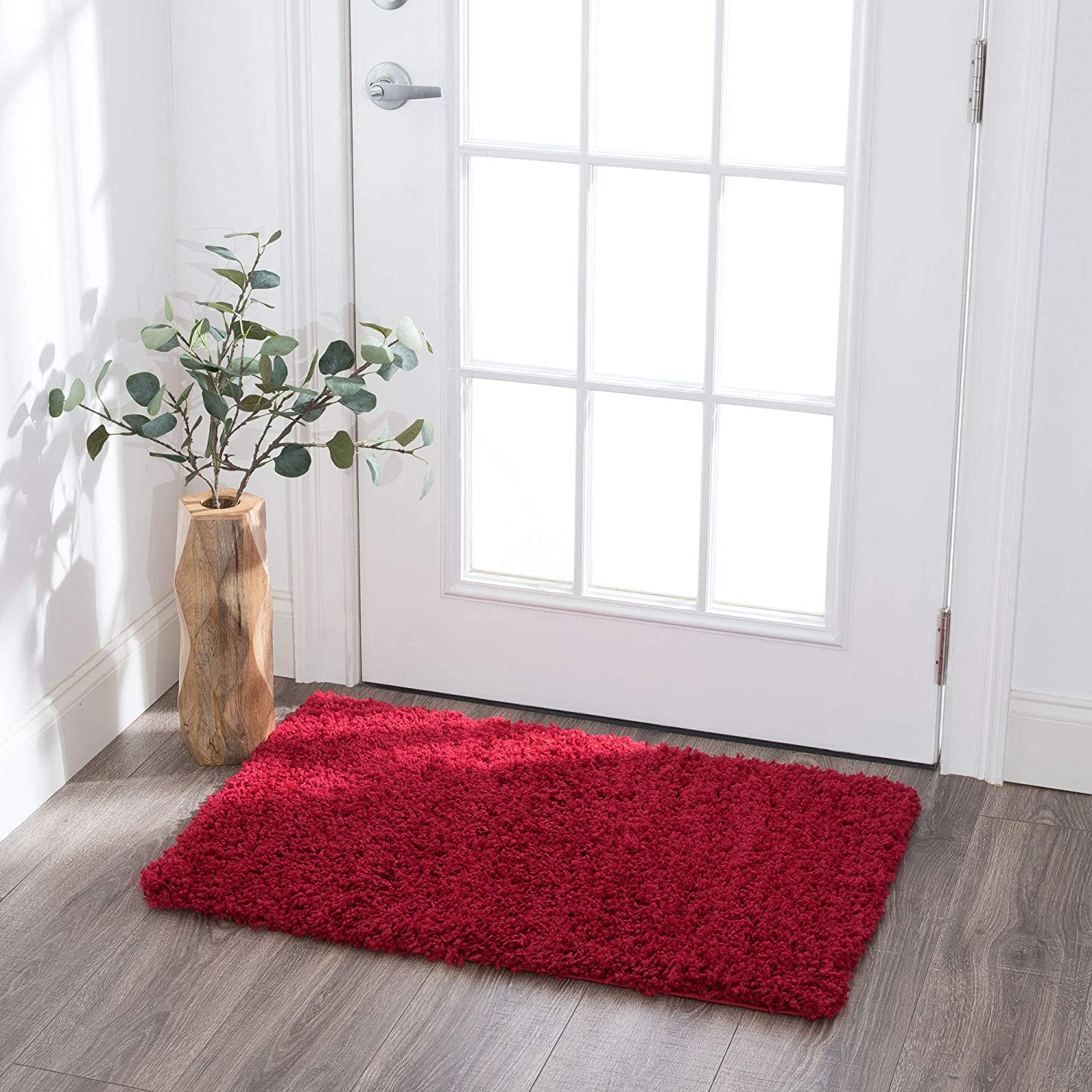 Alana NEW before selling Red 2x3 Shag Scatter Mat Gorgeous En Walkway Rug for Area Hallway