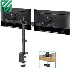 PUTORSEN® Soporte de Doble Brazo de Escritorio Ajustable, para Pantalla de Monitor de TV, LCD y computadora de13-32, con Capacidad de Carga de 17,6 lbs para Cada Monitor