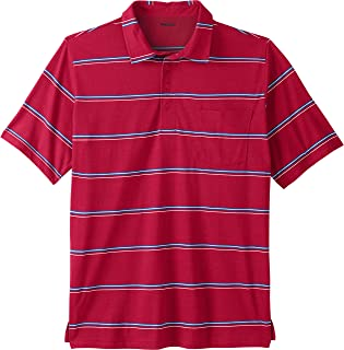KingSize Men's Big & Tall Lightweight Pocket Golf Polo Shirt