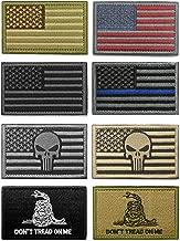 WZT Bundle 8 Pieces American Flag Tactical Military Morale Patch Set