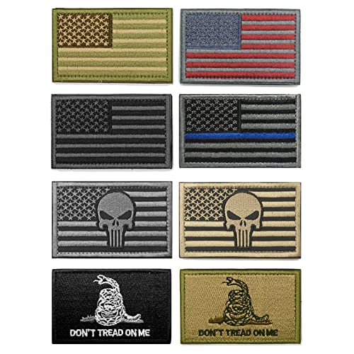 WZT Bundle 8 pieces american flag Tactical Military Morale Patch Set b2d607f7493