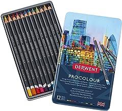Derwent Colored Pencils, Procolour Pencils, Drawing, Art, Metal Tin, 12 Count (2302505)