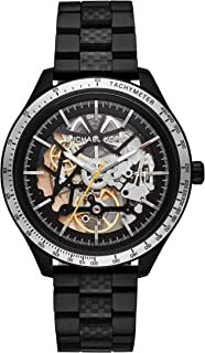 Men's Merrick Automatic-self-Wind Watch with Stainless-Steel-Plated Strap, Black, 20 (Model: MK9038)