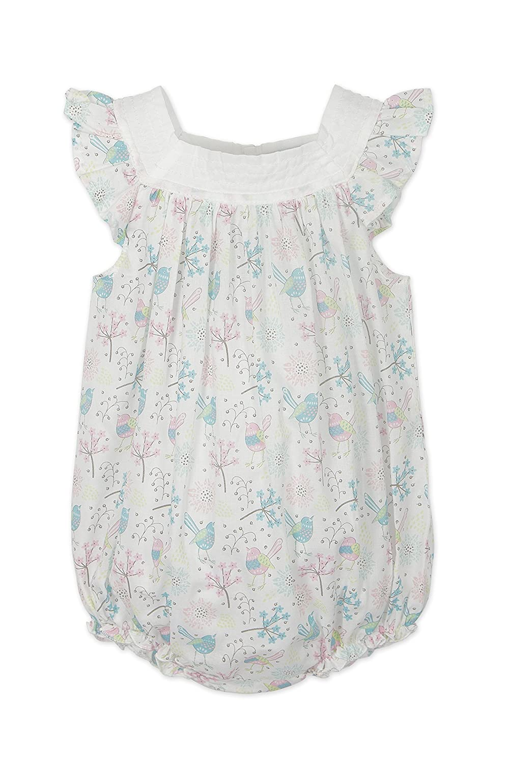 Feather Baby Girls Clothes Pima Bubble National uniform free shipping Woven Cotton Neck 70% OFF Outlet Square
