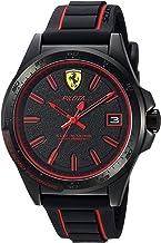 [フェラーリ] Ferrari 腕時計 Men's 'Pilota' Quartz Stainless Steel and Rubber Casual Watch, Color:Black クォーツ 830421 メンズ 【並行輸入品】