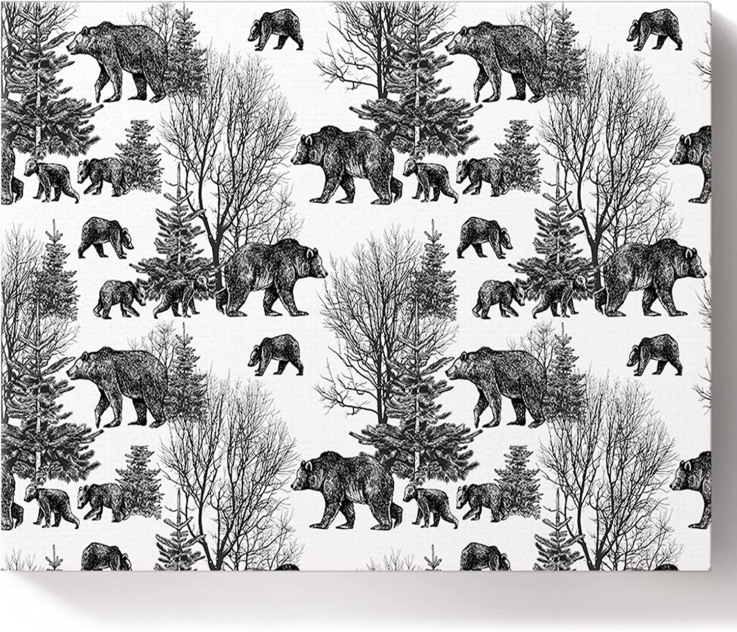 Painting by Numbers Hand Drawn Sales results No. 1 Forest and A surprise price is realized DIY Bear White Black