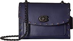 Crystal Border Rivets Parker 18 Shoulder Bag