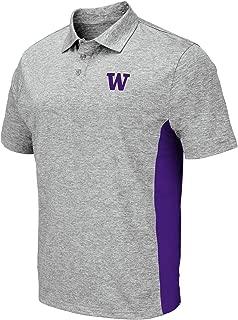 Colosseum Men's NCAA-Driven-Golf/Polo Shirt-Heather Grey Twist