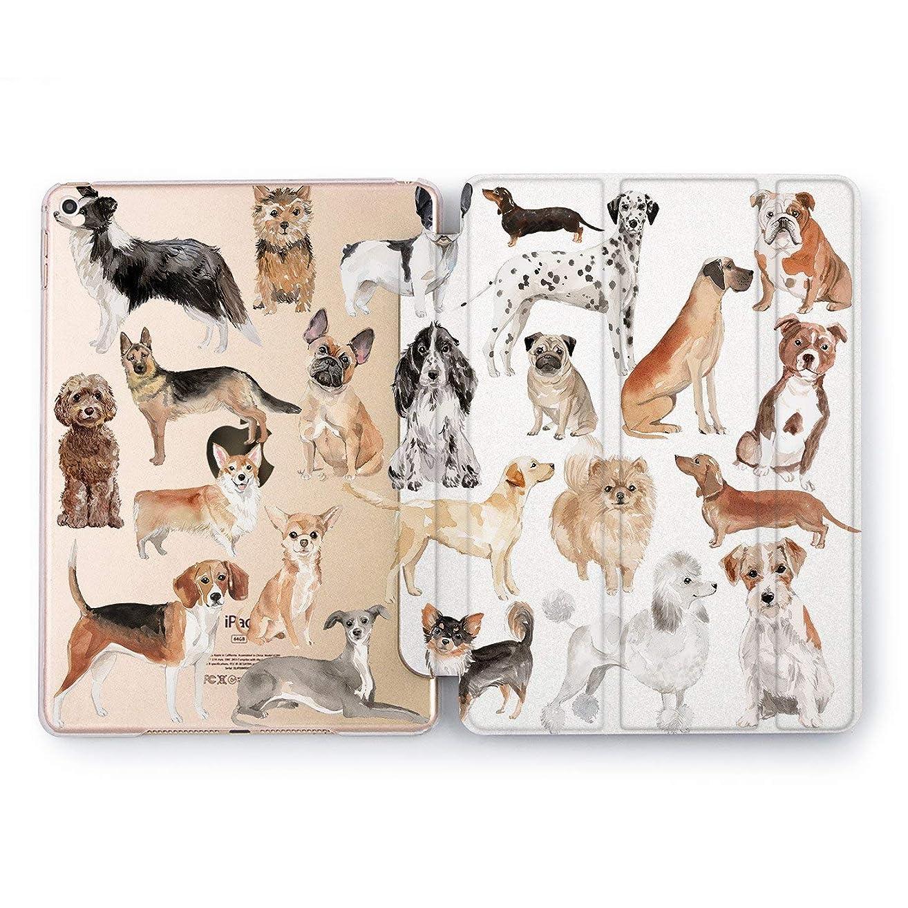 Wonder Wild Dog Pattern Apple iPad Pro Case 9.7 11 inch Mini 1 2 3 4 Air 2 10.5 12.9 2018 2017 Design 5th 6th Gen Clear Smart Hard Cover Animal Dogs Pets Boxer Labrador Retriever Man Best Friend