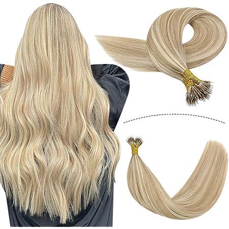Strähnen hellblond mit dunklen Blonde haare