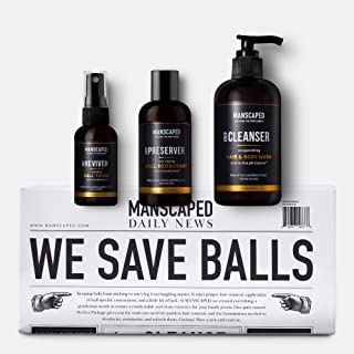 MANSCAPED Crop Essentials, Male Care Hygiene Bundle, Includes Invigorating Body Wash, Moisturizing Ball Deodorant, High Pe...