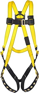 MSA 10072487 Workman Harness with Back D-Ring, Tongue Buckle Leg Straps and Qwik-Fit Chest Strap, Standard