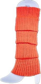 Neon Fluro Leg Warmers Knitted Socks