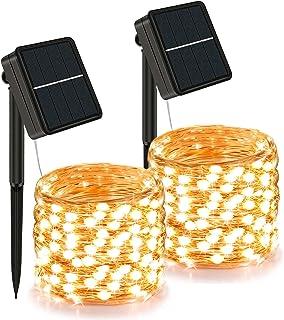 Solar Lichterkette Außen, 24M 240er LED Lichterkette outdoor wetterfest, 8 Modi, Solar Lichterkette Garten Balkon, Lichter...