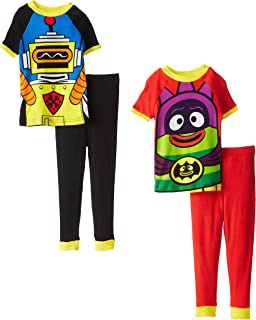 Yo Gabba Gabba Little Boys' Costume Four-Piece Cotton Pajama Set