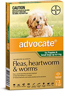 Advocate for Puppies and Small Dogs up to 4kg, 3 Pack