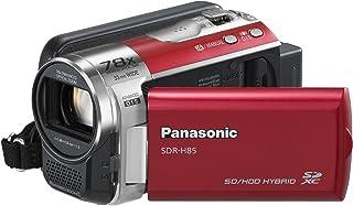 Panasonic SDR H85EG R Camcorder (SD Kartenslots, 78 fach optisher Zoom, 6.9 cm Display, Bildstabilisator, USB 2.0) rot