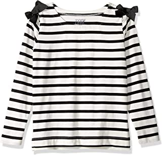 Amazon/ J. Crew Brand- LOOK by crewcuts Girls' 3/4 Sleeve Bow Shoulder Top