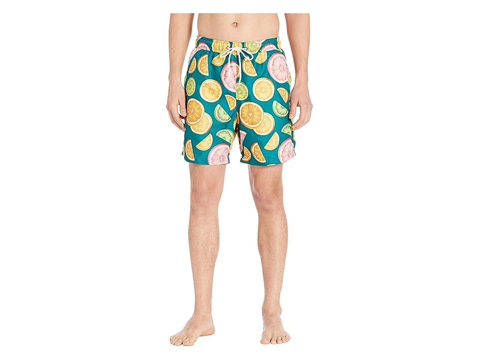 U.S. Surf Club Citrus Swim Shorts (Evergreen) Men