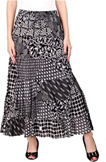 COTTON BREEZE Women's Skirt (FP320, Multicolour, Free Size)