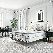 Classic Brands Mercer Pillow Top Cool Gel Memory Foam and Innerspring Hybrid 12-Inch Mattress, Full, White
