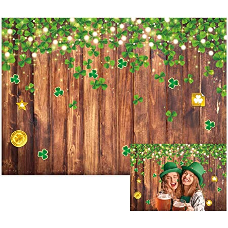 5x5FT Vinyl Photo Backdrops,Green and Orange,Cartoon Figure Photo Background for Photo Booth Studio Props