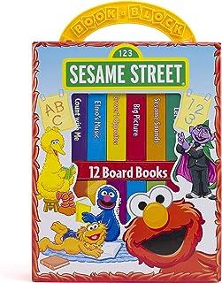 Sesame Street – My First Library Board Book Block 12-Book Set – PI Kids