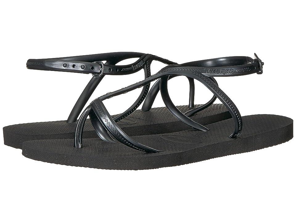 Havaianas Allure Maxi Flip-Flops (Black) Women