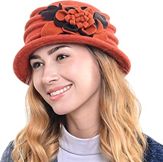 Women's French Beret - 100% Wool Cloche Hat - Beret Beanie for Winter C020