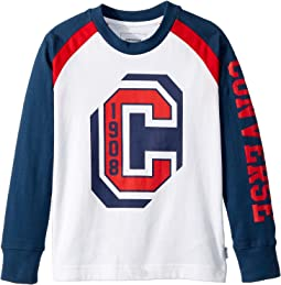 Converse Kids - Long Sleeve Collegiate Raglan Tee (Toddler/Little Kids)