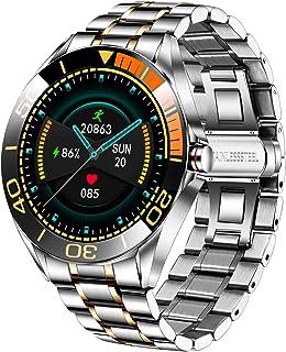 LIGE Smartwatch para Hombre, IP68 Impermeable rastreador de Ejercicios frecuencia cardíaca oxígeno en Sangre Monitor de pr...