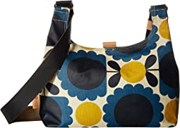 Matt Laminated Scallop Flower Spot Mini Sling Bag