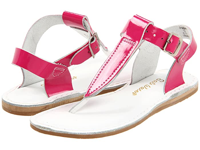 Salt Water Sandal by Hoy Shoes  Sun-San - T-Thongs (Toddler/Little Kid) (Shiny Fuchsia) Girls Shoes