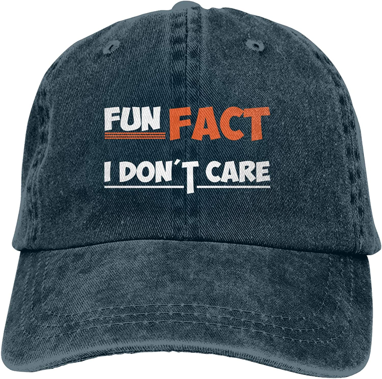 Kritin Fun Fact I Don't Care Hat, I Don't Care Baseball Cap Adjustable Trucker Dad Hat