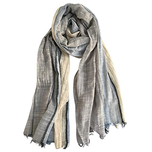 65ac3f37ed5b0 GERINLY Color Block Summer Scarf for Men Long Neck Wraps Shawl Urbanstyle  Scarf Gift for Men