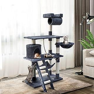 i.Pet 141cm Cat Scratching Post Cat Tree Tower Scratcher Pet Furniture Grey