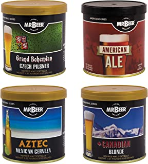Mr. Beer Variety Bundle Refill Pack with Czech Pilsner, Aztec Mexican Cerveza, American Ale and Canadian Blonde