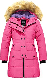 ZSHOW Girls' Winter Parka Coat Warm Thick Long Puffer Jacket with Fur Hood