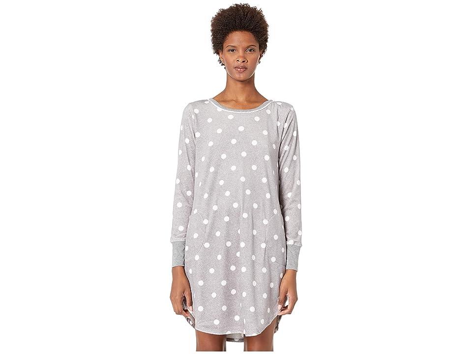 Kate Spade New York Stretch Velour Sleepshirt (Grey Dot) Women
