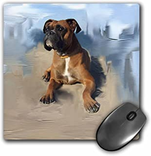 3dRose LLC 8 x 8 x 0.25 Inches Mouse Pad, Brindle Boxer (mp_4141_1)