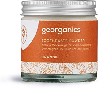 Georganics | Natural + Organic Toothpowder, Whitening + Stain-Removing Formula, Orange, 60ml / 2oz