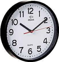 ساعة حائط بلاستيكية من دوجانا، اسود وابيض، DWG337G