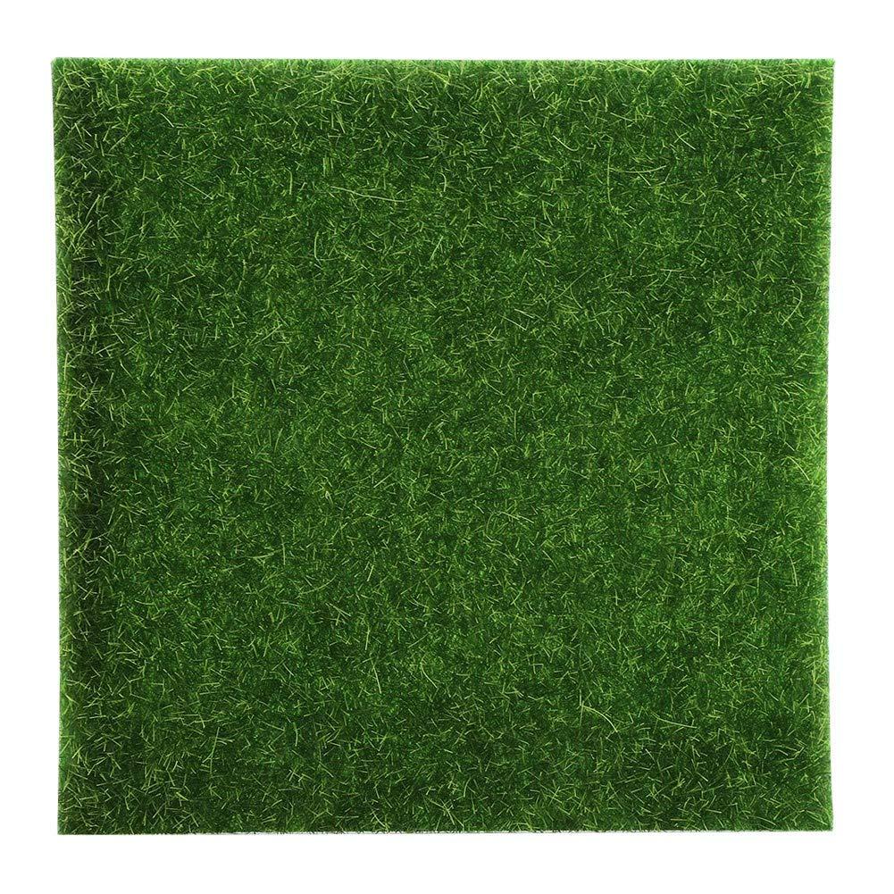 10 alfombrillas de césped artificial para jardín, musgo de plástico, para interiores y exteriores, decoración de jardinería, 15 x 15cm / 5.9 x 5.9inch: Amazon.es: Hogar