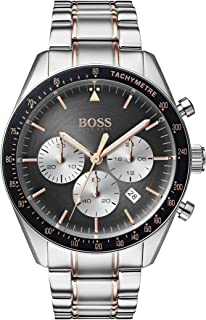 Hugo Boss Black Men's Grey Dial Two Tone Stainless Steel Watch - 1513634