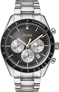 Hugo Boss Mens Quartz Watch, Analog Display and Stainless Steel Strap 1513634