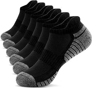 TANSTC, Calcetines tobilleros para hombre Calcetines deportivos para mujer Calcetines antideslizantes acolchados Cutton Low Cut Calcetines de senderismo deportivos para caminar Reino 39-47 (6 pares)