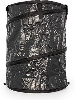 حاوية كبيرة قابلة للطي من كامكو مع غطاء بسحاب لإغلاقه - بسعة 99.5 لتر - إعداد بسيط وسهل التخزين، حقيبة قمامة رائعة قابلة ل...