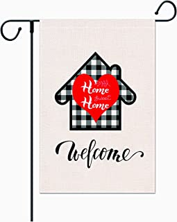 XCFH Country Charm Garden Flag 12x18 Inch- Double Sided Yard Flag with Free Anti-Wind Clip and Stopper Outdoor Decorative ...