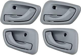 ECCPP Door Handles Interior Inside Inner Passenger Driver Side Front Rear for 1999 2000 2001 2002 2003 2004 Chevrolet Tracker Gray(4pcs)